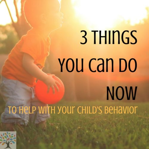 3 Things You Can Do For Child's Behavior